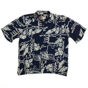 Hilo Hattie Men's L Hawaiian Aloha Camp Shirt Vtg